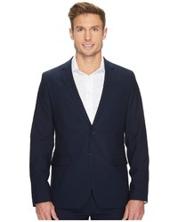 Calvin Klein Slim Fit Two Button Notch Lapel Fine Cord Stripe Bi Stretch Jacket Coat