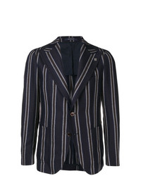 Tagliatore Striped Buttoned Blazer