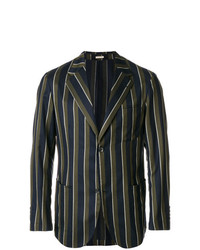 Striped single breasted blazer medium 7403295