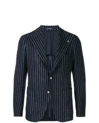 Tagliatore Striped Tweed Jacket