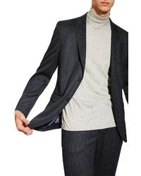 Topman Tailored Pinstripe Suit Jacket