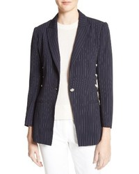 Veronica Beard Taylor Lace Up Pinstripe Blazer
