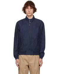 Polo Ralph Lauren Navy Linen Striped Jacket