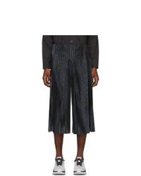 Homme Plissé Issey Miyake Navy Pleats Tailored Trousers