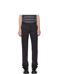 Daniel W. Fletcher Navy Split Hem Trousers