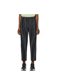 Homme Plissé Issey Miyake Navy Tailored Trousers