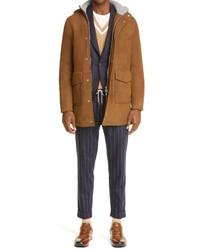 Eleventy Stretch Wool Pinstripe Trousers