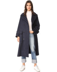 Pinstripe wool coat medium 5311835