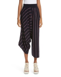 Stella McCartney Stripe Wool Knit Crop Pants