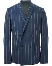 Double breasted pin stripe blazer medium 179664