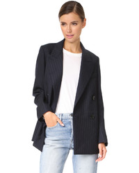 Jara pinstripe double breasted blazer medium 5085757