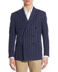Morgan regular fit pinstriped double breasted sportcoat medium 3701627