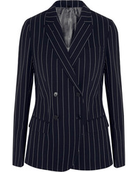 Pinstriped wool blend blazer medium 151275