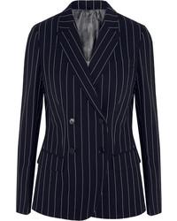 Pinstriped wool blend blazer medium 151275