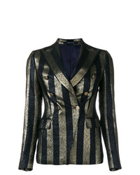 Tagliatore Striped Metallic Blazer