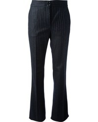 Navy Vertical Striped Dress Pants