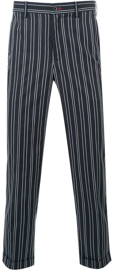 Loveless Chalk Stripe Trousers