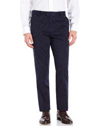 Dockers Navy Pinstripe Slim Tapered Dress Pants