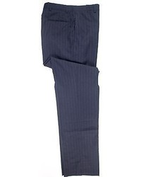 Brooks Brothers Nwt Navy Pinstriped 100% Wool Dress Pants Trousers Flat Front