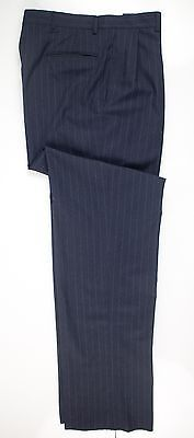 Brooks Brothers Nwt Navy Pinstriped 100% Wool Dress Pants Trousers Pleated