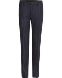Etro Pinstriped Wool Pants