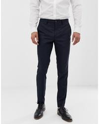 Jack & Jones Premium Slim Suit Trousers In Navy Pinstripe