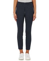 Simone pinstriped cotton blend pants medium 1252332