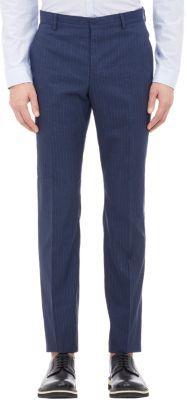 Paul Smith Slub Pinstripe Trousers