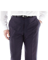 jcpenney Stafford Executive Super 130 Navy Pinstripe Flat Front Suit Pants Big Tall