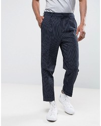 Tapered suit pant in navy pinstripe medium 3744787