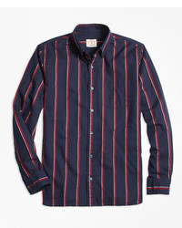 Brooks brothers regal stripe flannel sport shirt medium 1250780