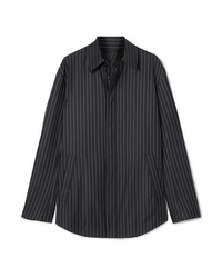 Balenciaga Pinstriped Wool And Cashmere Blend Shirt