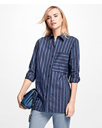 Striped cotton dobby tunic medium 3666689