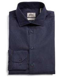 Tonal stripe trim fit dress shirt medium 1247853