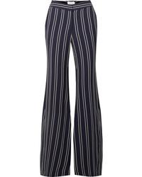 LA LIGNE Striped Crepe Flared Pants