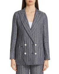 Max Mara Bellico Pinstripe Linen Jacket