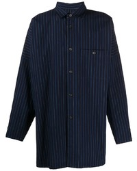Issey Miyake Men Vertical Striped Oversized Shirt