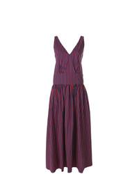 La Doublej Striped V Neck Dress