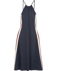 Dubois polo striped jersey halterneck midi dress midnight blue medium 5375604