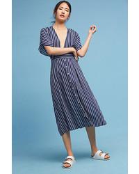Faithfull deep v striped dress medium 5375602