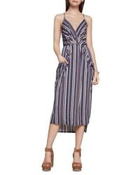 Savannah stripe print faux wrap dress medium 5375601
