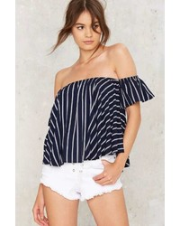 Factory Drop Anchor Off The Shoulder Top