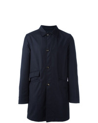 Kiton Reversible Pinstriped Coat