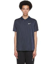 Nike Navy Black Court Dri Fit Adv Slam Polo