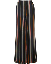 Roksanda Arneau Striped Satin Wide Leg Pants