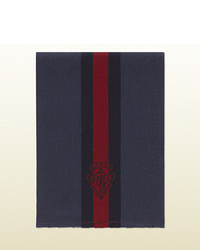 Navy Vertical Striped Scarf