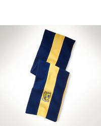Navy Vertical Striped Scarf