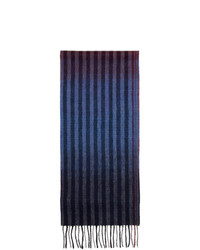 Paul Smith Multicolor Wool Sunset Stripes Scarf