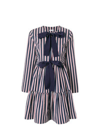 P.A.R.O.S.H. Striped Flared Dress