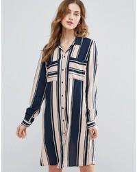 Vila Mixed Stripe Shirt Dress